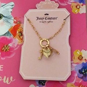 Juicy Couture Heart, Key, & Juicy NWT necklace